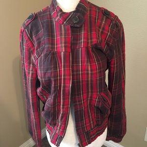 🔥30%OFF🔥 Charlotte Russe Plaid jacket size L